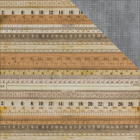Kaisercraft Documented Double-Sided Cardstock 12X12 - Measurement