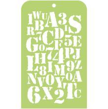 Kaisercraft Mini Designer Templates 3.5X5.75 - Typography