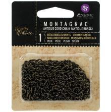 Prima Frank Garcia Memory Hardware Chain 2yd - Montagnac Cord/Antique Brass