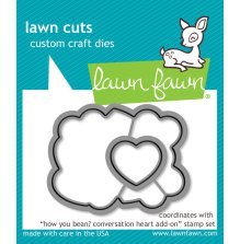 Lawn Fawn Custom Craft Die - How You Bean? conversation heart add-on
