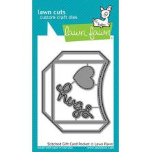 Lawn Fawn Custom Craft Die - Stitched Gift Card Pocket
