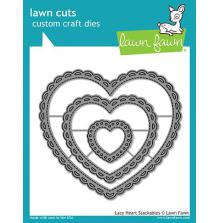 Lawn Fawn Custom Craft Die - Lacy Heart Stackables