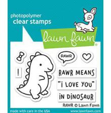 Lawn Fawn Clear Stamps 3X2 - Rawr