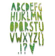 Sizzix Thinlits Die - Paper Cuts Alphabet