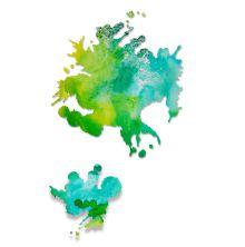 Sizzix Thinlits Die Set 2PK - Paint Splats