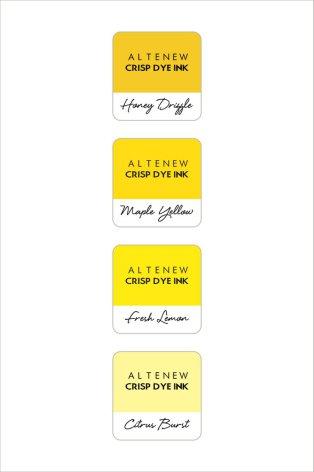 Altenew Dye Inks 4 Mini Cube Set - Pocketful of Sunshine