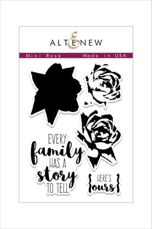Altenew Clear Stamps 3X4 - Mini Rose