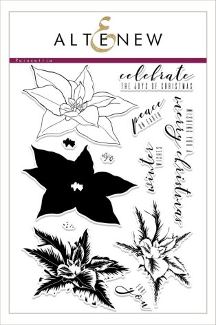 Altenew Clear Stamp And Die Build A flower - Poinsettia
