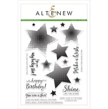 Altenew Clear Stamps 6X8 - Halftone Stars