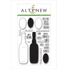 Altenew Clear Stamps 4X6 - Bottleful of