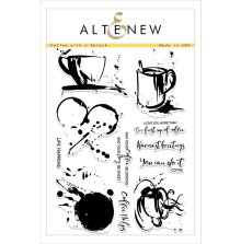 Altenew Clear Stamps 6X8 - Coffee with a Splash