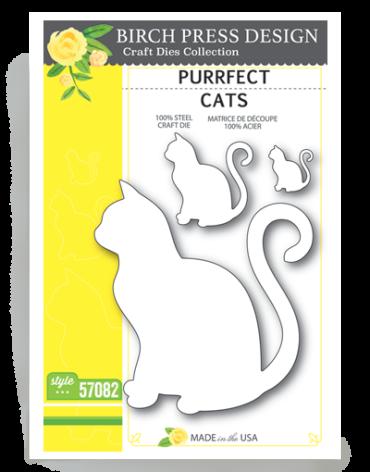 Birch Press Die - Purrfect Cats