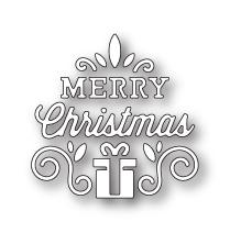 Poppystamps Die - Merry Christmas Gift Scroll