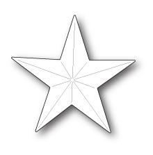 Poppystamps Die - Folk Star