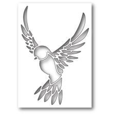 Poppystamps Die - Peaceful Dove Collage