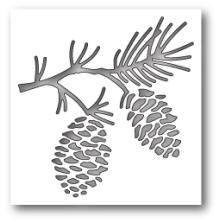 Poppystamps Die - Pinecone Branch Collage