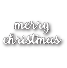 Poppystamps Die - Folk Merry Christmas