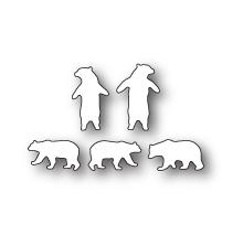 Poppystamps Die - Tiny Polar Bears