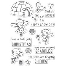 Poppystamps Clear Stamp - Wintertime Fairies