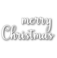 Memory Box Die - Large Sentimental Merry Christmas