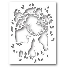 Memory Box Die - Enchanted Deer Collage