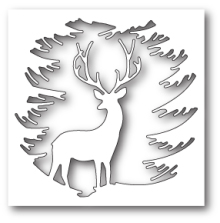 Memory Box Die - Evergreen Reindeer