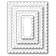 Memory Box Die - Wrapped Scalloped Rectangles
