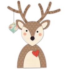 Memory Box Die - Decorated Deer Deep Edge