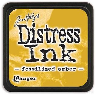 Tim Holtz Distress Mini Ink Pad - Fossilized Amber