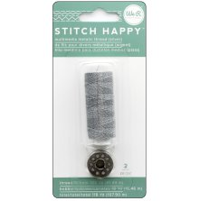 We R Memory Keepers Stitch Happy Metallic Thread - Silver
