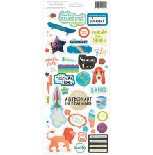Pink Paislee Cardstock Stickers 5.5X11 2/Pkg - Wild Child Boy UTGÅENDE