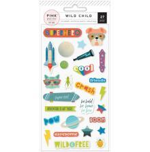Pink Paislee Puffy Stickers - Wild Child Boy UTGÅENDE