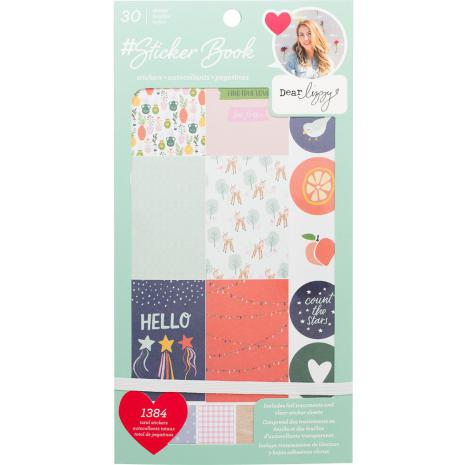 American Crafts 30 Page Stickers Book 4.75X9 - Dear Lizzy