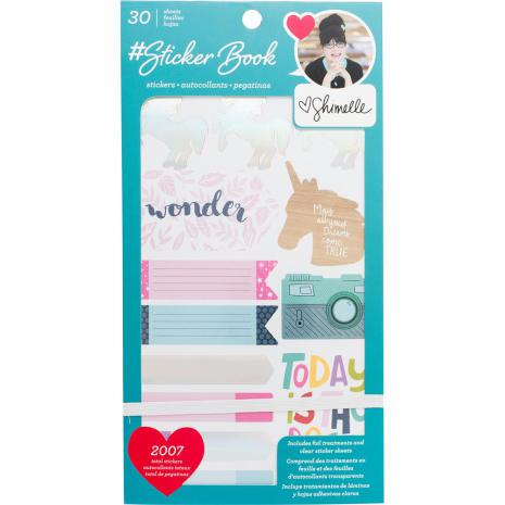 American Crafts 30 Page Stickers Book 4.75X9 - Shimelle