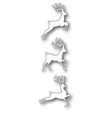 Poppystamps Die - Jumping Deer Trio