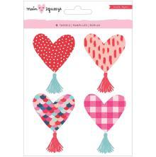 Crate Paper Heart Tassels 4/Pkg - Main Squeeze Heart
