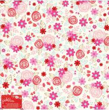 Pebbles Specialty Cardstock 12X12 - Forever My Always Roses UTGÅENDE