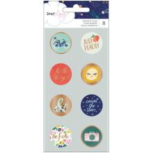 Dear Lizzy Adhesive Flair Buttons 8/Pkg - Star Gazer