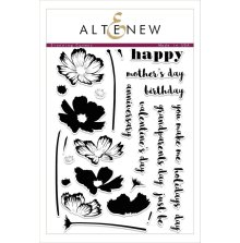 Altenew Clear Stamps 6X8 - Stunning Cosmos