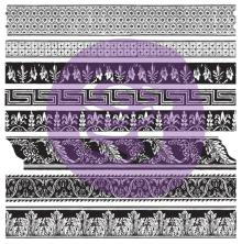 Prima Iron Orchid Designs Decor Clear Stamps 12X12 - Medium Trims
