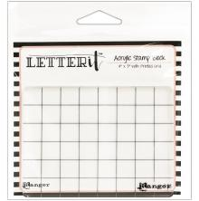 Ranger Letter It Acrylic Stamping Block 4X3