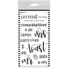 Ranger Letter It Clear Stamp Set 4X6 - Wedding