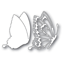 Memory Box Die - Drifting Side Butterfly