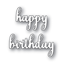 Memory Box Die - Sentimental Happy Birthday