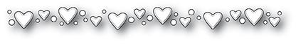 Memory Box Die - Dibble Heart Border