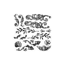 Prima Iron Orchid Designs Decor Clear Stamps 12X12 - Flourished