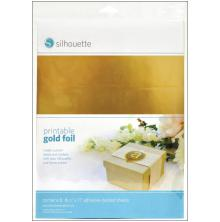 Silhouette Printable Adhesive Foil 8.5X11 8/Pkg - Gold