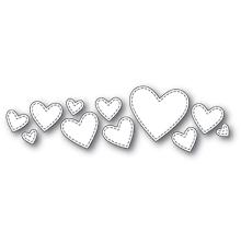 Poppystamps Die - Splendid Stitched Hearts