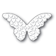 Poppystamps Die - Embossed Heart Butterfly