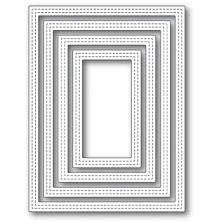 Poppystamps Die - Double Stitch Rectangle Frames